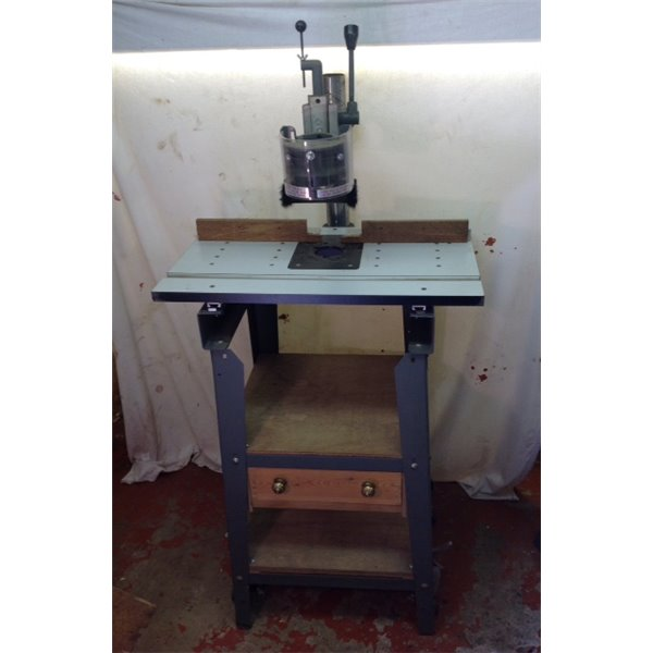 shopsmith overarm pin router used with table