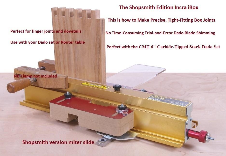 Shopsmith Version Incra I-Box Box Cutting Jig
