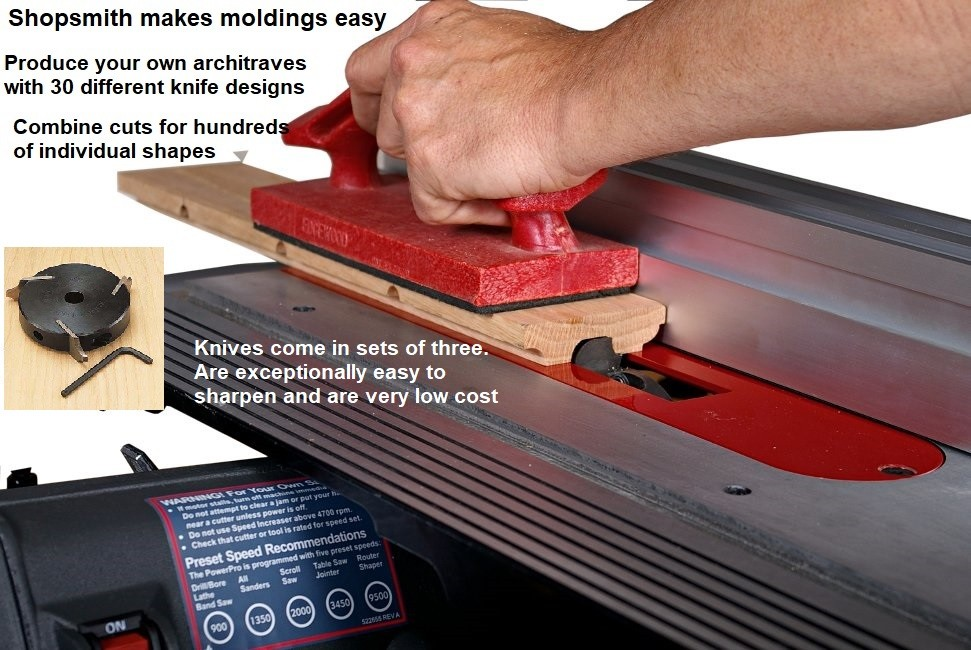 Shopsmith Molding made easy