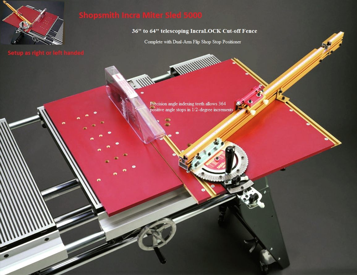 Incra MITER 5000 SLED for Shopsmith