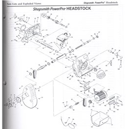 Shopsmith Power Pro Headstock instruction Manual