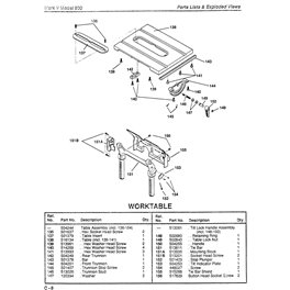 Saw Table Mk V 500 Part 142