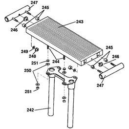 MARK V 510 Floating Table Chrome tube spacer Part 247