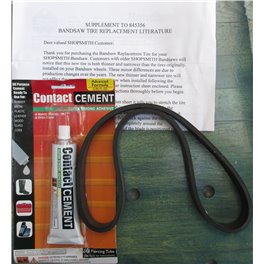 Bandsaw Tyre (Standard spare) plus adhesive supplied