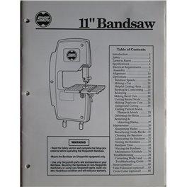 """Shopsmith 11"""" Bandsaw printed manual"""