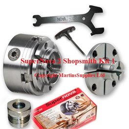SuperNova 2 Shopsmith  Woodturning Lathe Chuck System KIT 1