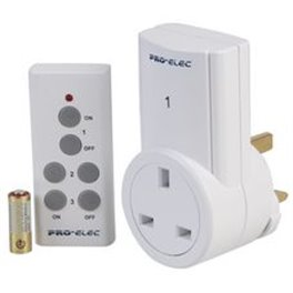 Remote control 13a socket with remote inc battery
