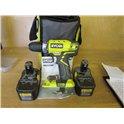 Ryobi RCD1802 Hammer drill +2batts NO CHARGER Model RCD1802