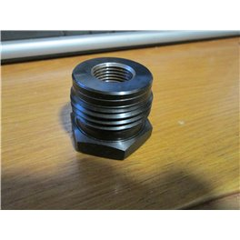 """Lathe Chuck insert adapter 1-3/8"""" x 8 TPI OUTSIDE and 9/16"""" x ? TPI INSIDE threads"""