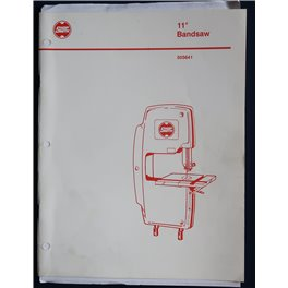 """Shopsmith 11"""" Bandsaw- CAST IRON TABLE printed manual"""