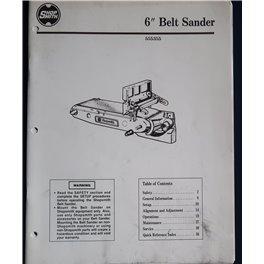 """Shopsmith 6"""" Belt Sander printed manual"""