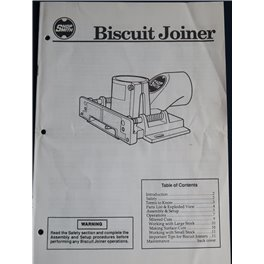 Shopsmith Biscuit Joiner printed manual